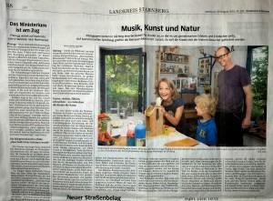 Artikel über MuKuNa in SZ/Starnberg 2013